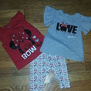 Other - 3 piece Minnie mouse outfit.